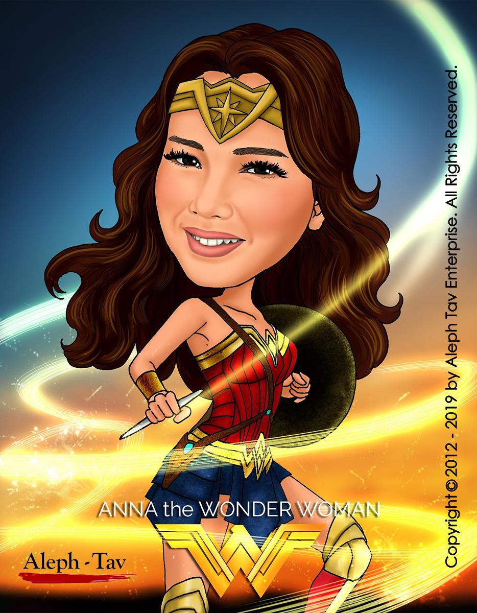 Custom caricature Christmas cards retirement for women Superman Wonder Woman retirement for men Christmas gift retirement gift