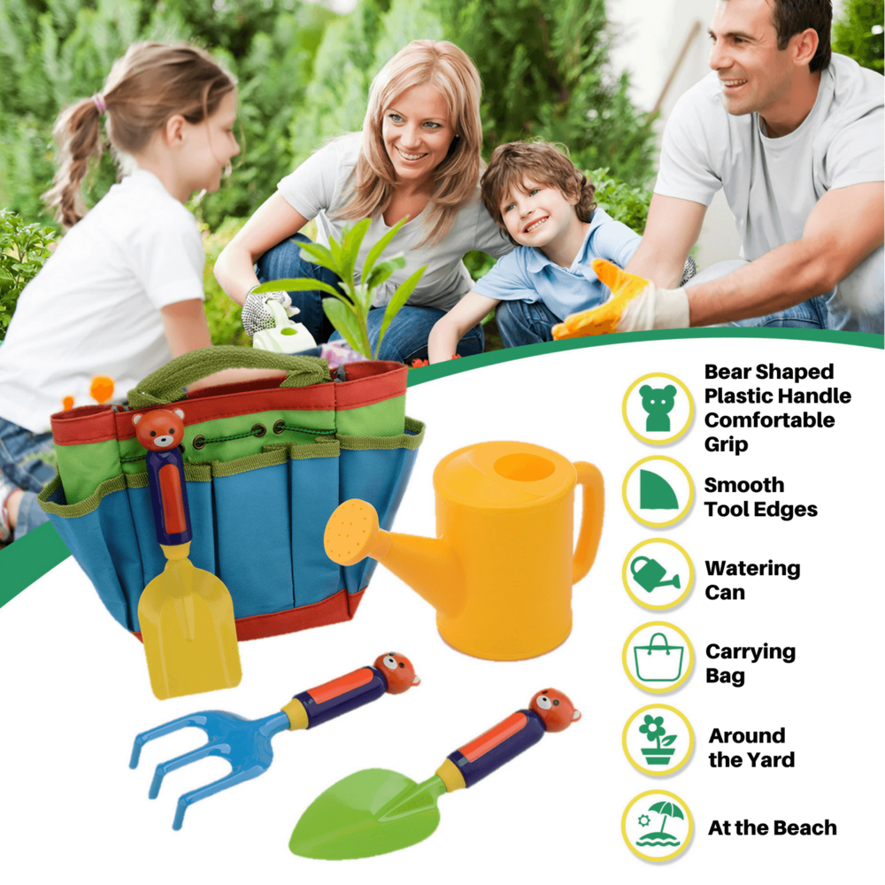 KEEP THE LITTLE GARDENERS OCCUPIED IN YOUR BACKYARD THIS SUMMER - Rigaorz   Now your little gardners can actually help you around the yard. It's also handy at the beach, digging to find clams and crabs in the sand, watering can and tools for building sandpits and the biggest sandcastles. If you're looking for the ultimate toddler gift that encourages learning through nature and hours of fun, look no further.
