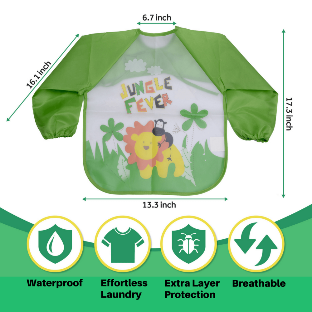 WATERPROOF SMOCK APRON PREVENTS MUDDY CLOTHES WHILE PROTECTING FOREARMS -Rigaorz   Say goodbye to garden fun time laundry nightmares! Keep your child protected from water, mud, and dirt as they enjoy their gardening experience.