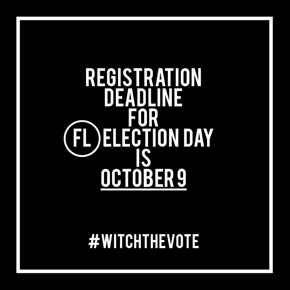Florida Voter Registration Deadline