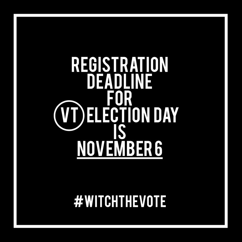 Vermont Voter Registration Deadline