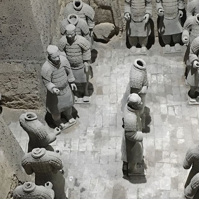 Terra-cotta warriors. Maybe I'll start building some for my mausoleum!