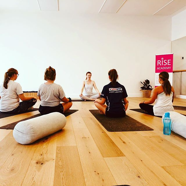 The Beautiful Izzy Jane sharing mindful movement through yoga and meditation to cultivate a focused and calm state within body and within mind...💕🤸🏽♂️🧘♀️. #yoga #meditation #mindfulness #portlincoln #schoolholidays #mindset #girls #raisingstronggirls