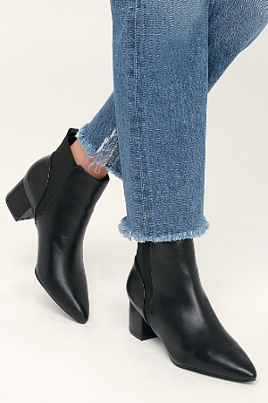 Chase Black Pointed Toe Ankle Booties.jpg