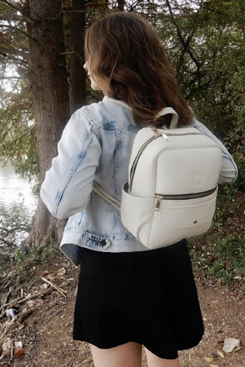 White Rhino Bags uses a combination of PU and other recycled materials to create their collection   , including this gorgeous    White Rhino Signature Backpack in Cashew Dream    . Retails for $98.00, also available in Dark Avocado, Love Afterdark, Afternoon Sangria and Marshmellow Brulee.