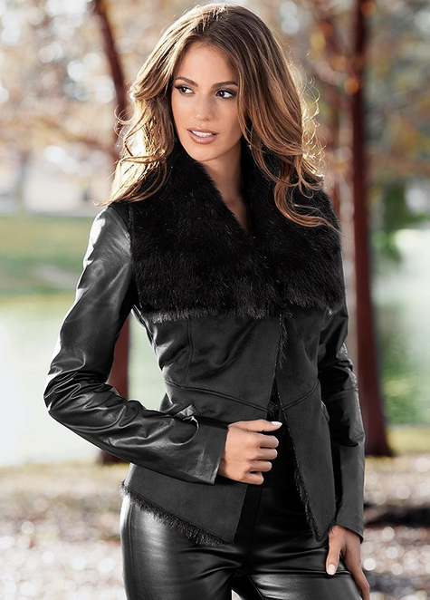 Faux everything is perfect for any animal lover, and who can say no to a sexy leather jacket. Whether its brown or black, everyone loves to own one. They simply look great on everyone and go with almost any outfit. Also, they can be worn for almost all the seasons.