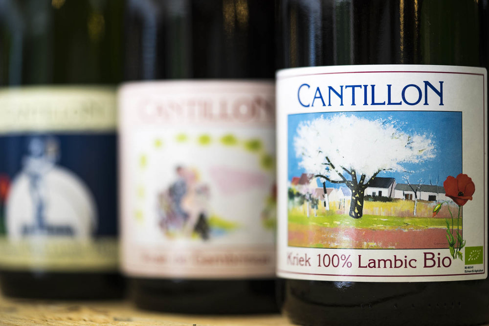 Cantillon Gueuze, Kriek & Rosé de Gambrinus 750mL