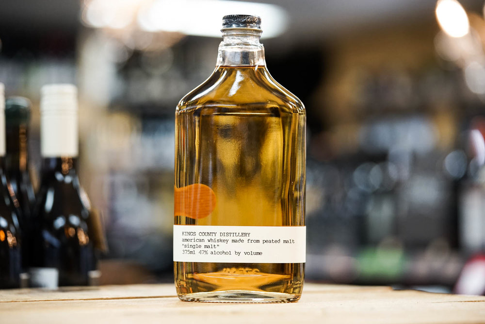 Kings County Single Malt Peated Whiskey 375mL