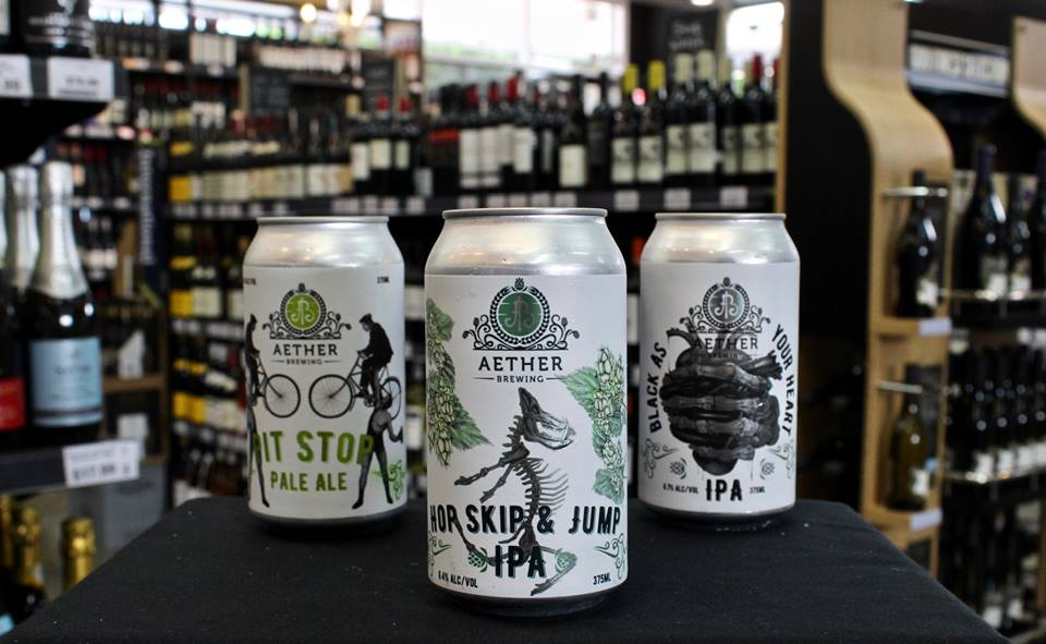 Pit Stop Pale Ale, Hop Skip & Jump IPA and Black as your heart IPA all available in-store.