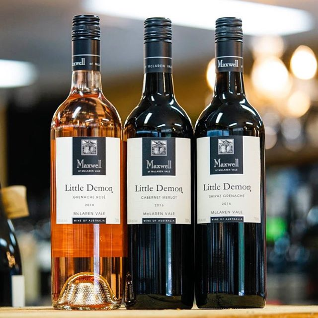 "If you feel like your first week back at work is travelling slower than it should (how is it only Tuesday!?) enjoy yourself with a glass of fine artisan wine. Our top pick one from the @maxwellwines ""Little Demon"" range. Collect your bottle from your nearest Black Sheep Bottle Shop tonight."