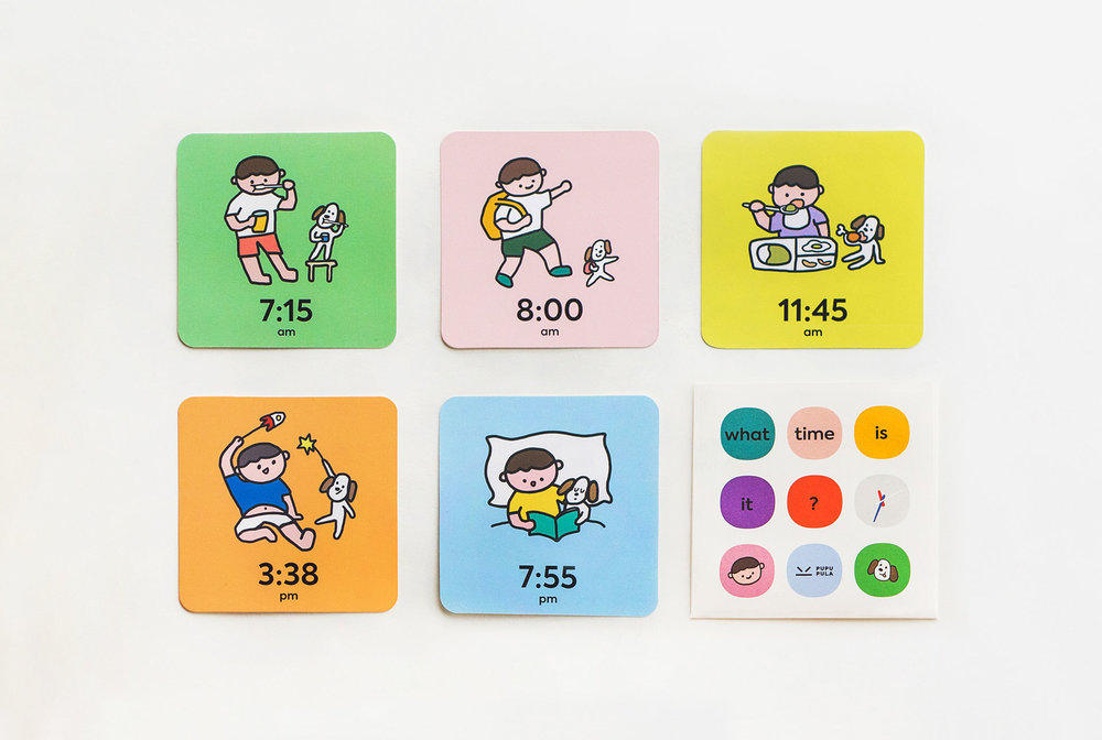 """- """"What Time Is It?"""" Flash CardsComes with time activity card set to learn the meaning of time."""