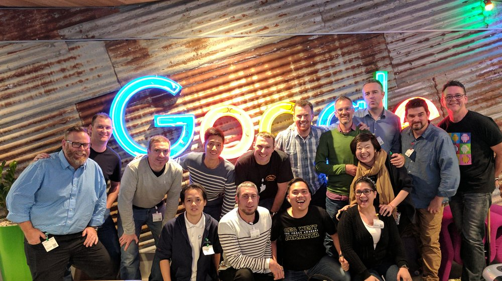 The APAC cohort of Google Earth Education Advisory Board, now named Google Earth Education Experts (GE3) at the 2017 gathering in Google Sydney
