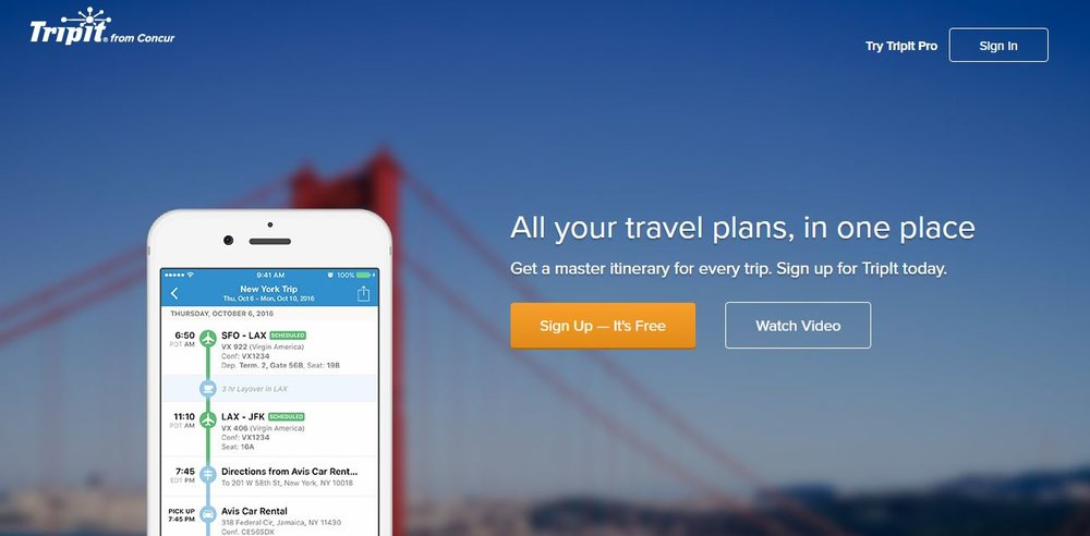 TripIt becomes part of Concur - The growing importance of mobile devices is also reflected in the acquisition of TripIt, an app for mobile travel plans. Users of the app can forward booking confirmations by email to the app, which automatically creates travel plans.