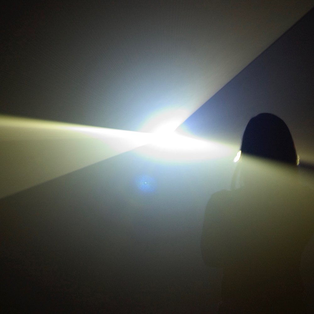 Anthony McCall,  Four Projected Movements,  1975, Installation view, Centre Georges Pompidou / La Maison Rouge, Paris, 2004. Photograph by Marc Domage