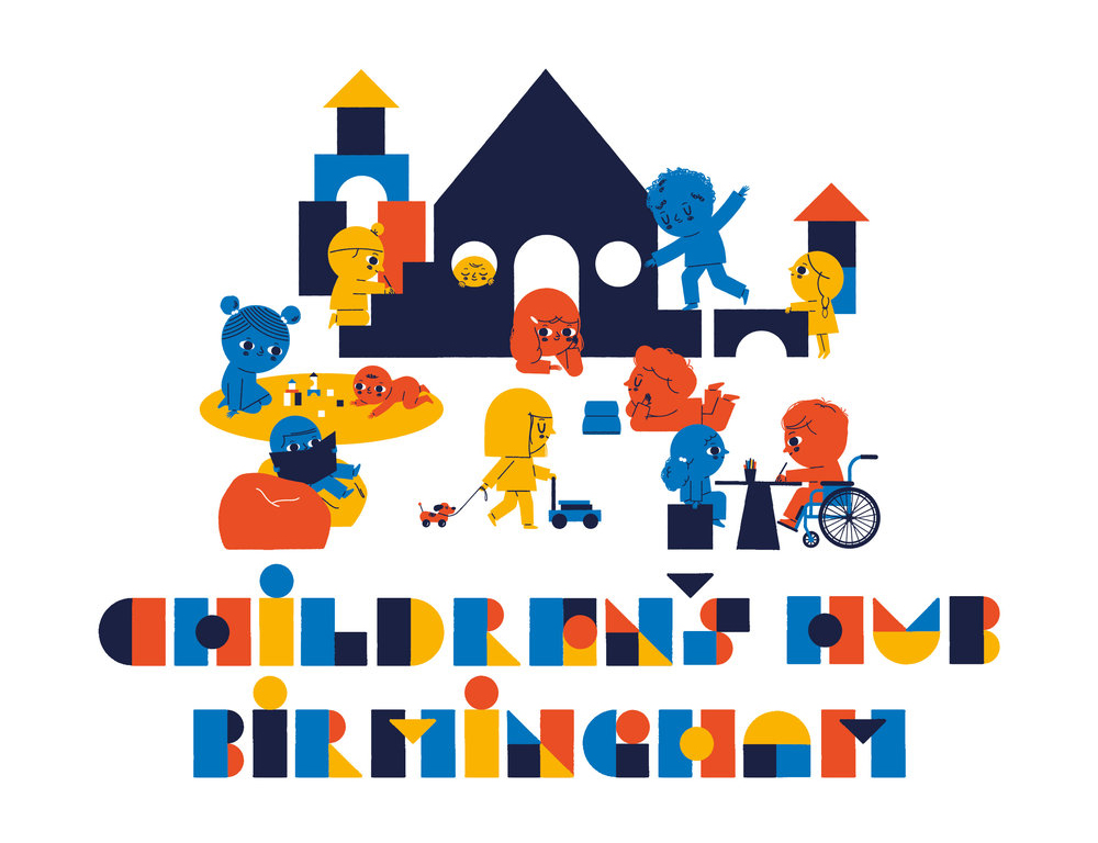 BABHaus - A children's hub commissioning and producing new art works with and for children and families to test out bold new curatorial and programming ideas for young audiences in the heart of their neighbourhoods. Idea already in development as the next stage of this research project and children's membership by FAMALAM and Impact Hub Birmingham, with BABHaus set to be launched in Birmingham in September 2018. Illustration by Ben Javens.