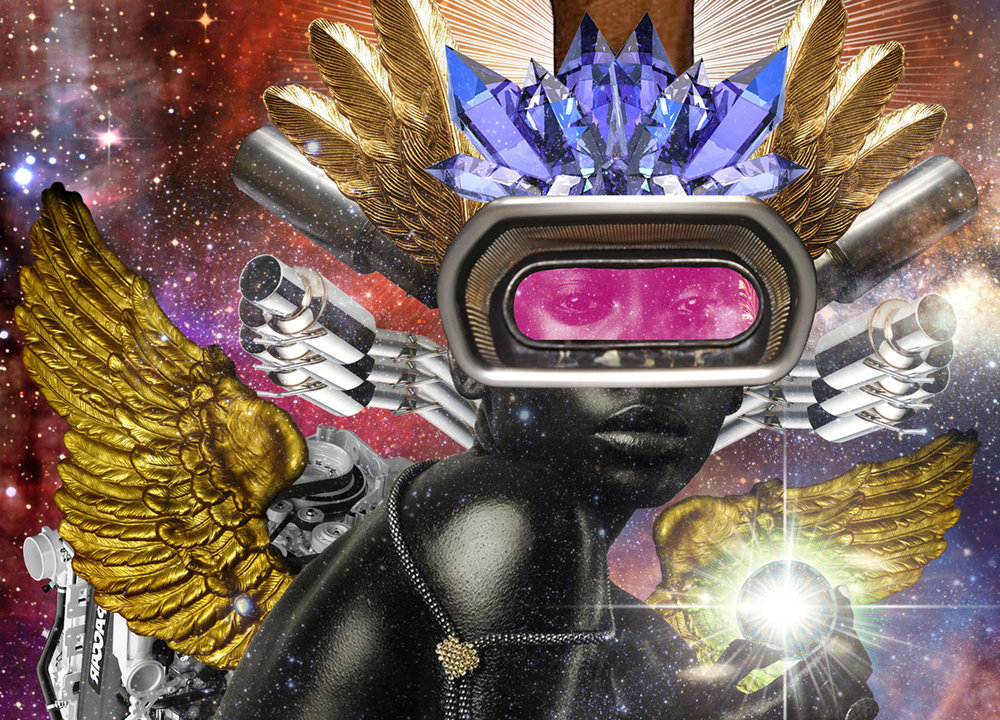 Starfleet Academy & Futures Fund - The UK's first academy for the future from sci-fi to afrofuturism and beyond, investing in, supporting and celebrating those dreaming, designing and imagining the future for humanity. Inspired by Black Panther, Ava Duvernay, AfrofuturesUK. Illustration by Stacey Robinson.