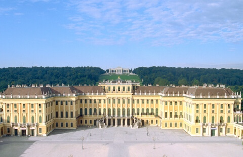 An Evening at Schönbrunn - A special menu is served in the restaurant of the castle grounds followed by the Schönbrunn Palace Orchestra presenting masterpieces of Wolfgang Amadeus Mozart and Johann Strauss, accompanied by dance and song.