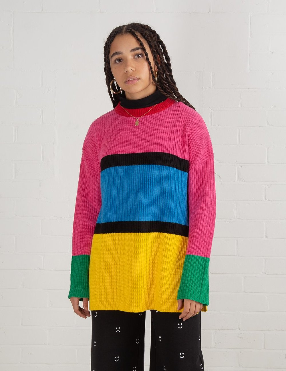Lazy Oaf Color Block Knit