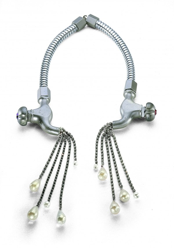 """Shower parts used as a necklace. Karl Lagerfeld for Chloe, 1983"" Image Source:  Marlm.com"