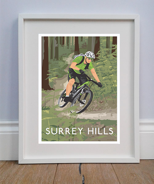 Personalised print of Mountain Biker