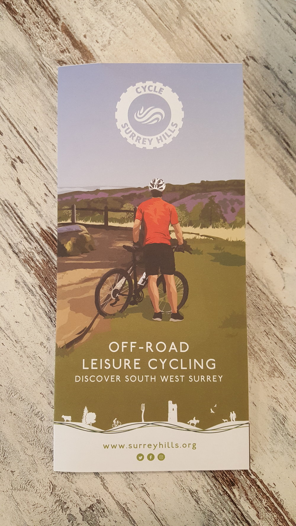 Cycle Surrey Hills pamphlet