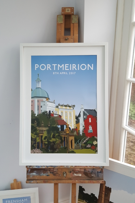 Illustration of Portmeirion, Wales. Louise Dunckley