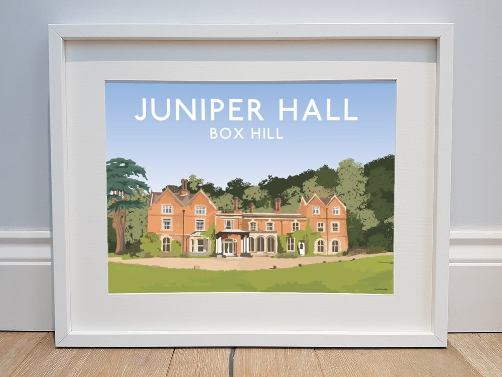 Illustration of Juniper Hall, Box Hill