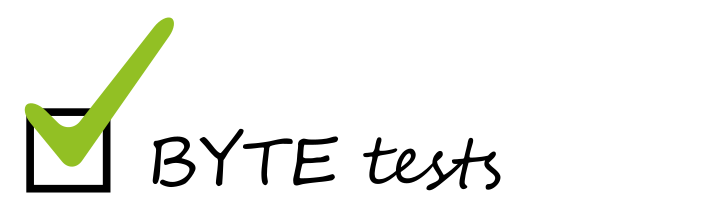 BYTE, Assessments, Build Your Test Environment, Building Tests, multiple choice, yes and no, open text fields