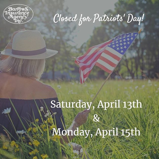 Just a friendly reminder! Enjoy your weekend! #patriotsday