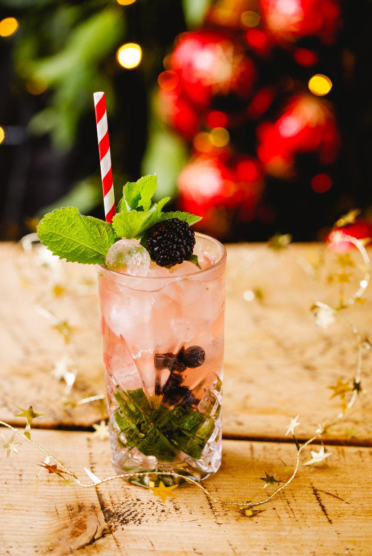 Winter Berry Mojito - Difficulty: Easy