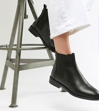 ASOS Design - Aura leather Chelsea ankle boots $60.00