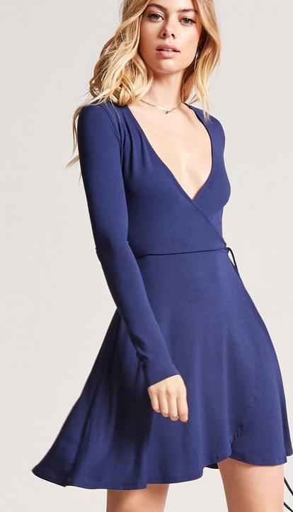 Forever 21 - Mock-wrap dress $10.00 (Similar)