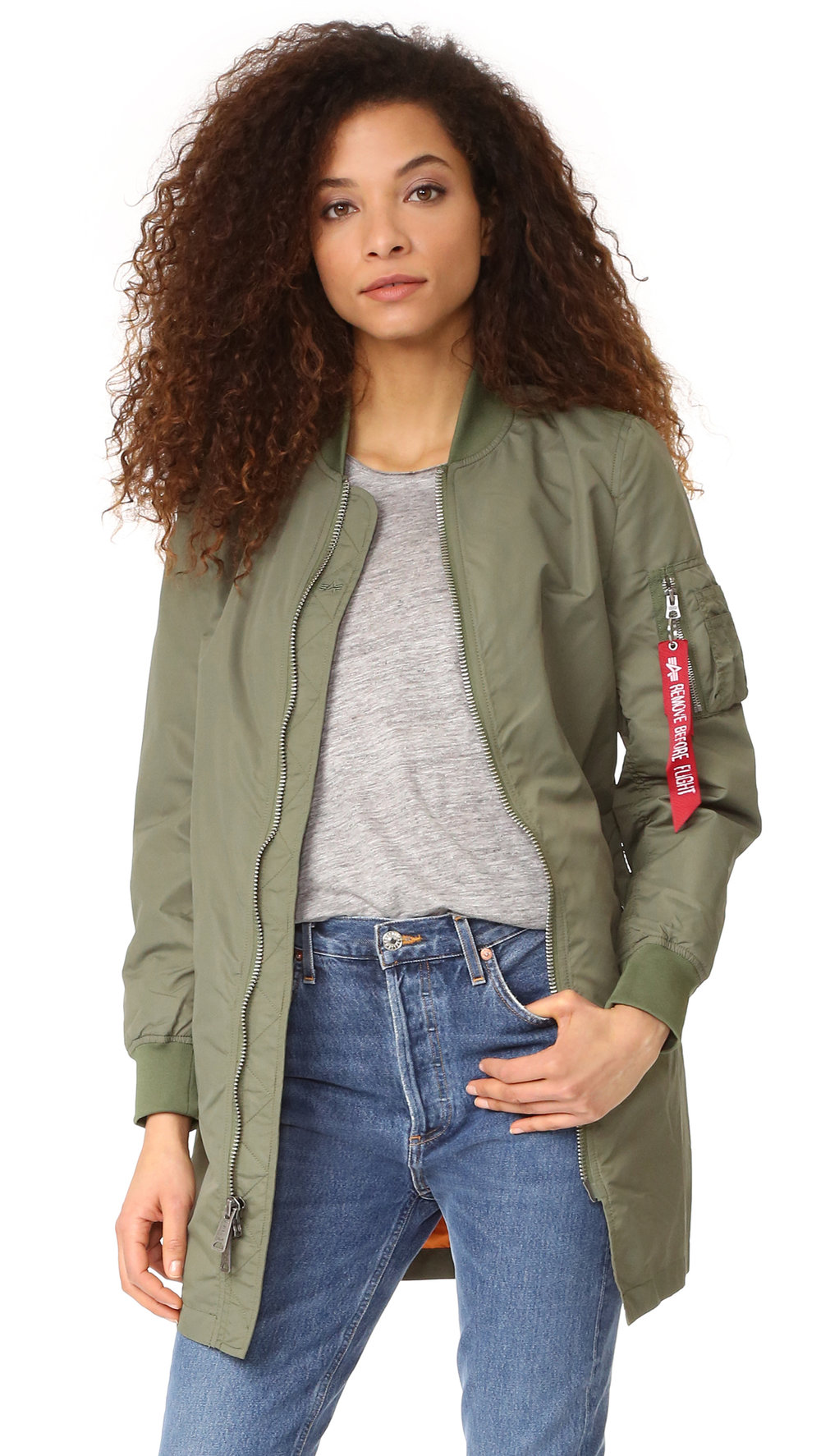 Alpha Industries - Long Bomber Jacket $150.00