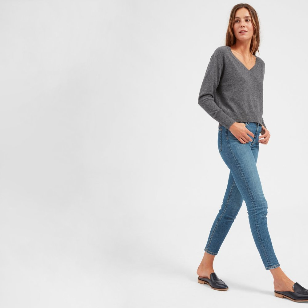 Everlane - The Cashmere Crop V-Neck $75 (On sale!)