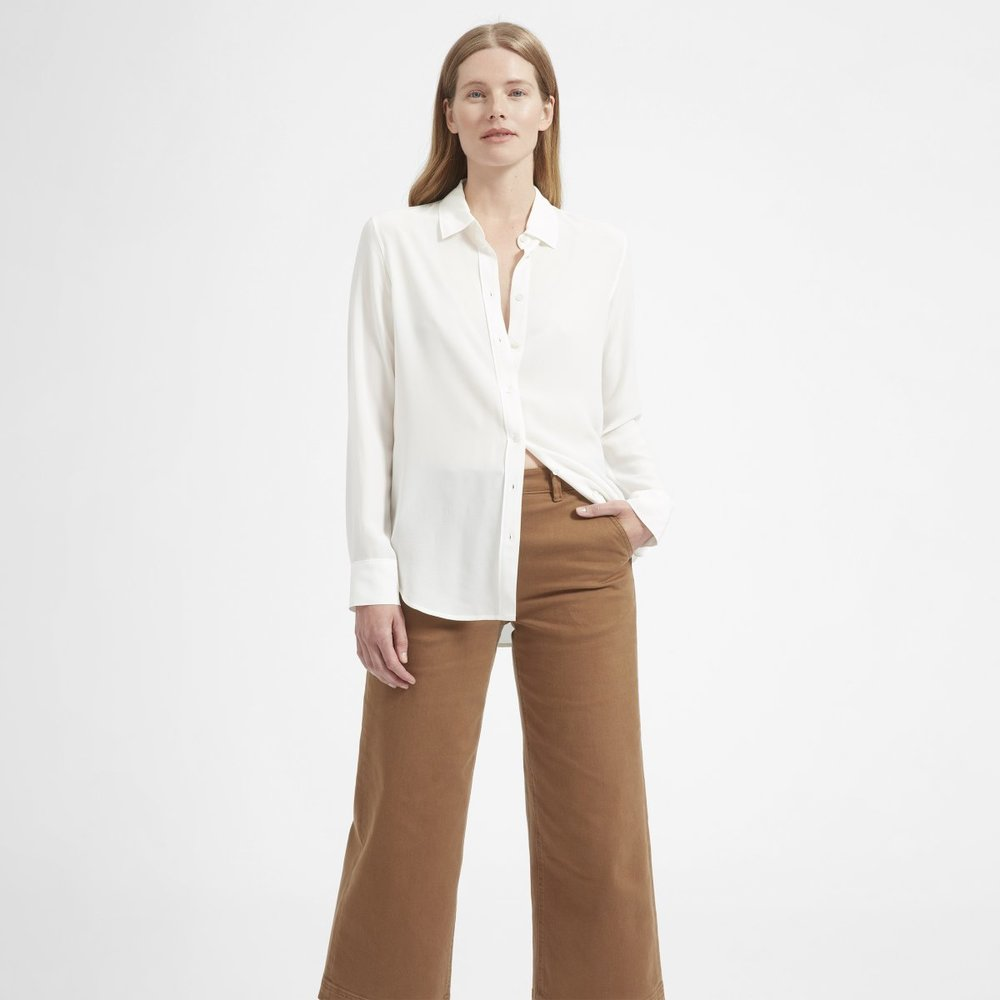 Everlane - The Relaxed Silk Shirt $88 (similar)