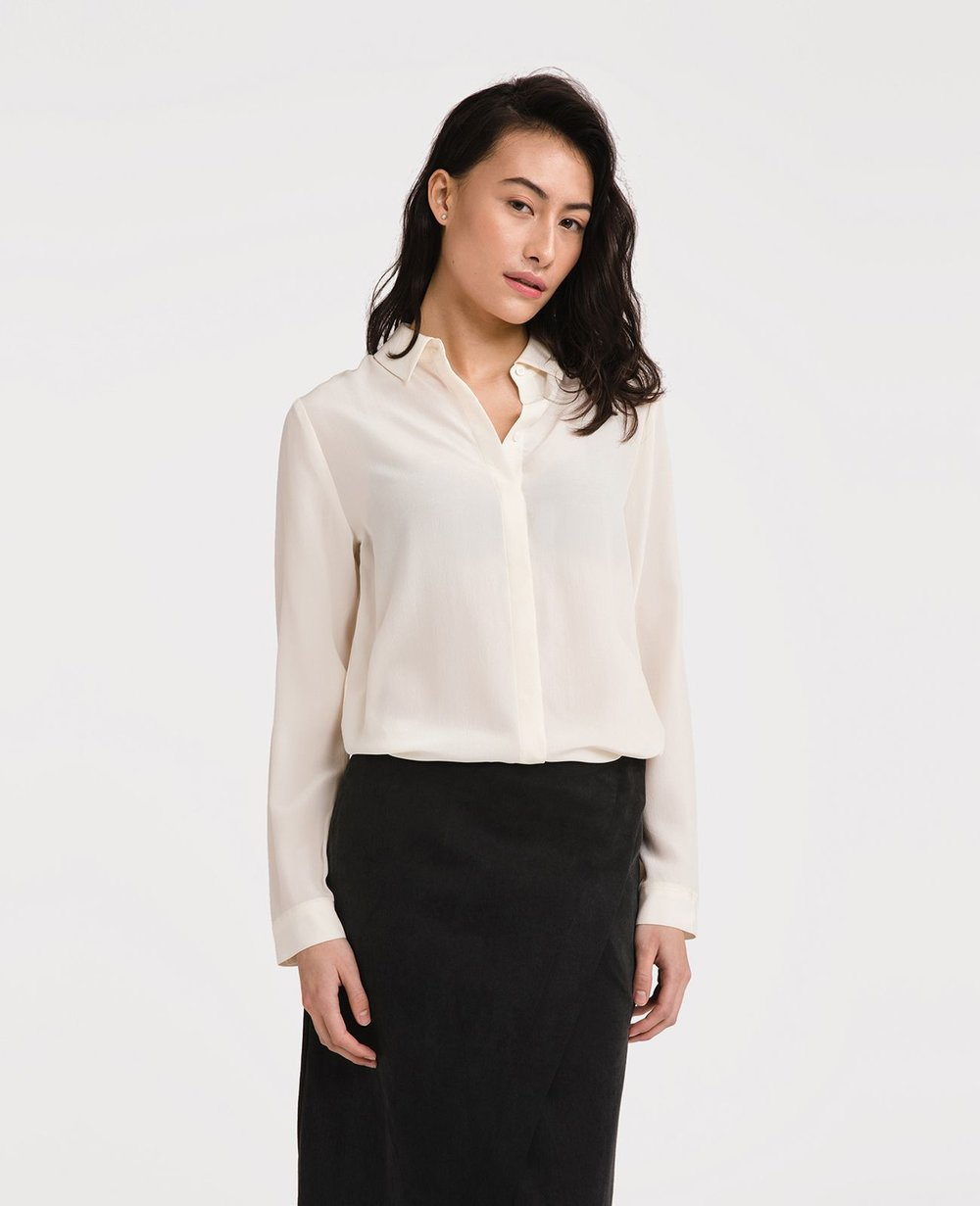 Grana - Chinese Silk Long Sleeve Shirt $89.00