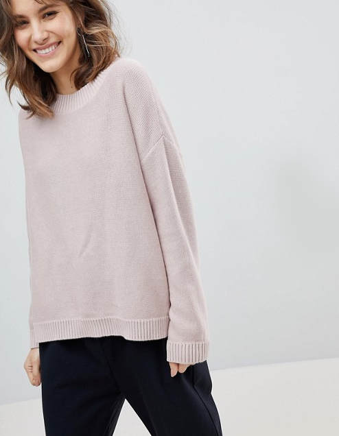 Selected Eco Organic - Cotton High Neck Sweater $72.00