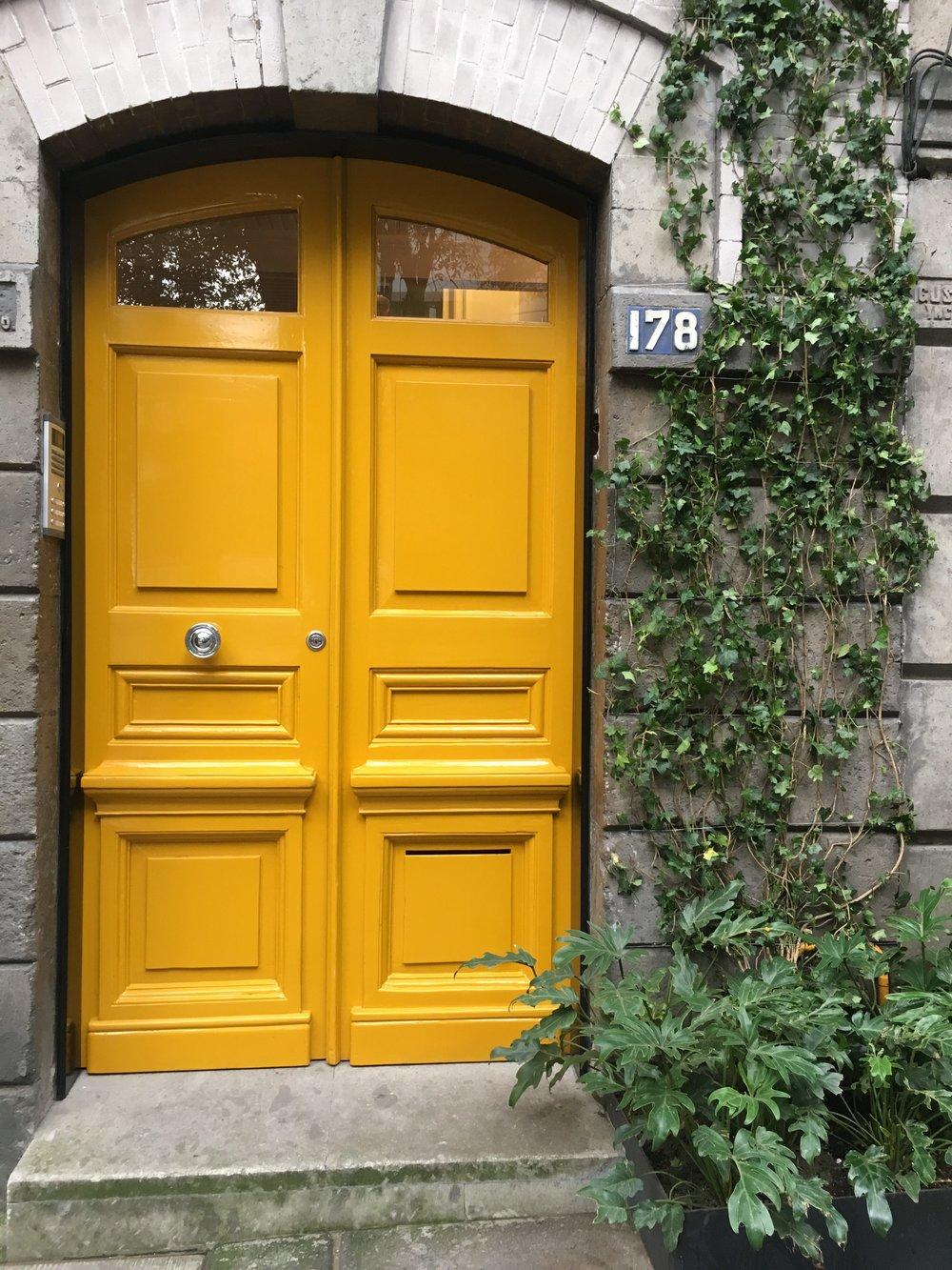 Cute yellow door in La Condesa