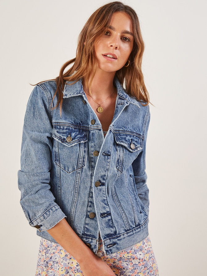 Reformation - Jean Jacket (not available in black anymore) $128.00