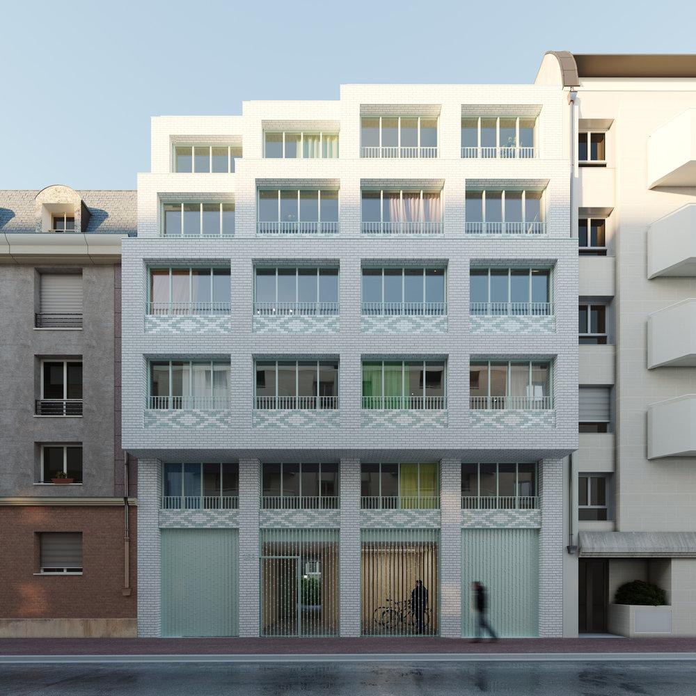 Concours, 20 logements, Montrouge - Des images du concours de 20 logements sociaux à Montrouge pour Montrouge Habitat.