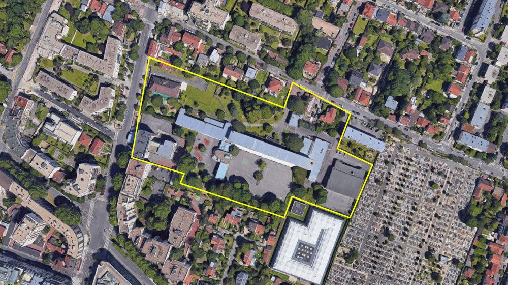 Phase Finale Inventons la Métropole 2 - Le groupement Altarea Cogedim + François Leclerc + Base + Palast est retenu pour la transformation du site de l'école de la Faiencerie à Bourg La Reine, en Parc habité.
