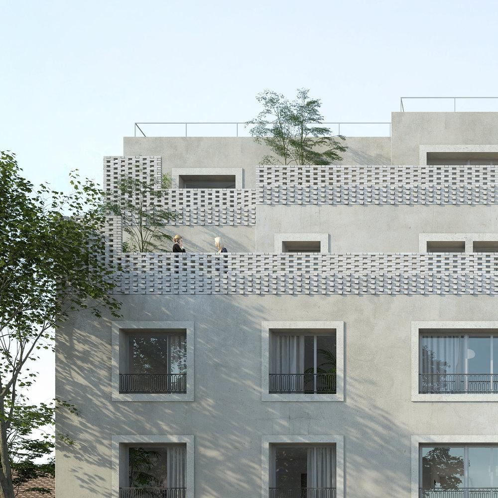 Nouveau projet, 16 logements, Perreux-sur-Marne (94) - Construction de 16 logements rue des Fratellini au Perreux-sur-Marne pour I3F.