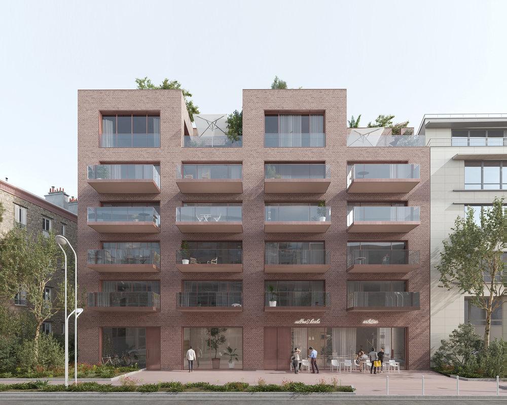 Début de chantier,18 logements,Montrouge - Démarrage du chantier de 18 logements en accession à Montrouge pour OGIC et Galia promotion.