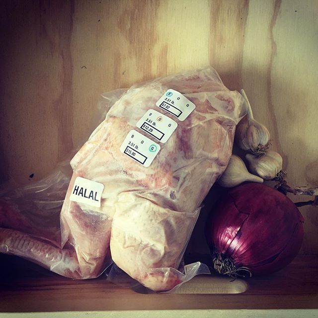 Isn't he a beauty?! We have whole Halal chickens with neck and feet—perfect for making soups and stocks. Come get a chicken today from 11AM - 4PM and have your stock ready for making stinging nettle soups and spring tonics when the first greens of the season come in! #eatlocal #shoplocal #localfood #cityofhudson @rolling_grocer_19