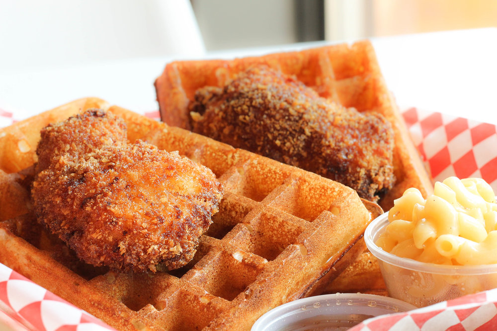 Chicken & Waffles from Sammy's Hot Mess