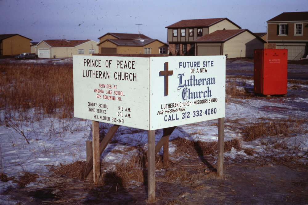 June 16, 1969 - The mission board of the Northern Illinois District purchased land in north Palatine for a new congregation.