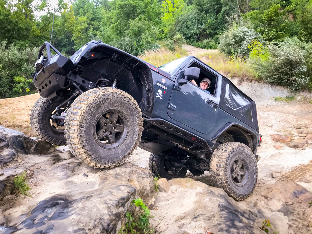 JENNIFER TOMKO - JEEP: SPARROWSparrow is a female owned and driven trail machine. He was purchased in October 2017 and I spent the entire winter on the build. His 6.4L Hemi not only sounds amazing on the trails but with the help of the 4:1 transfer case and low-end torque, he also crawls right over everything.