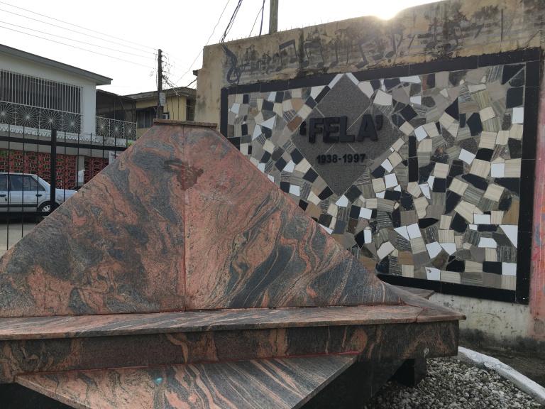 Fela Kuti's grave at his home Kalakuta in Lagos