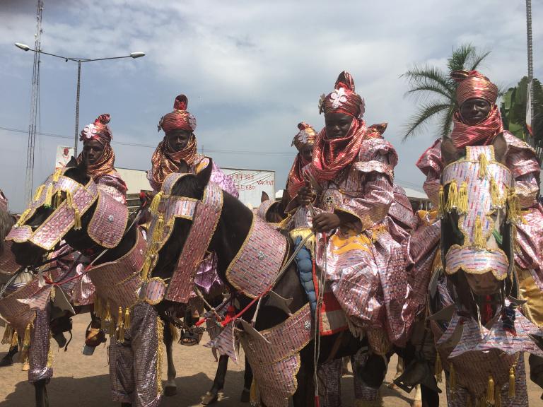 Horsemen at the Oba's coronation in Benin