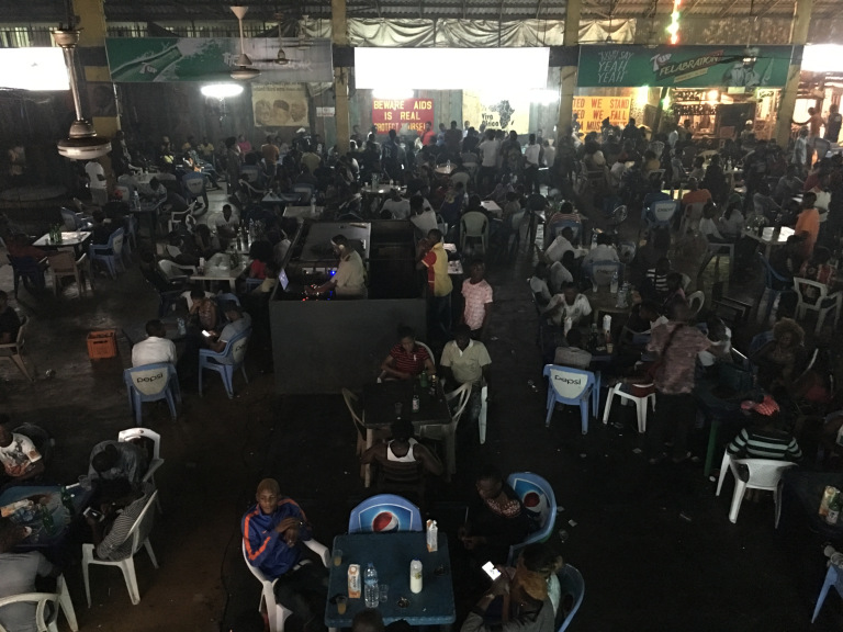 Worshipping at Fela's Shrine club in Lagos